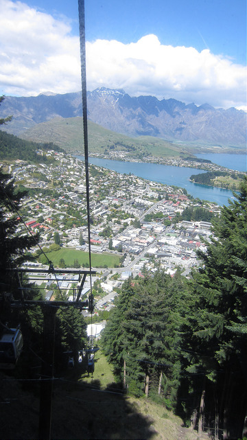 Going up the gondola, Queenstown