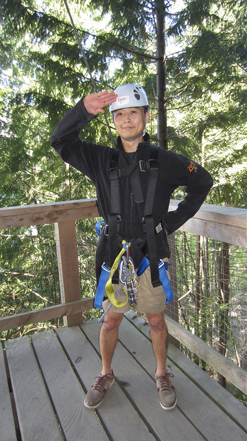 Li'l Bro about to go ziplining