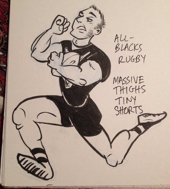 Rugby - massive thighs, tiny shorts