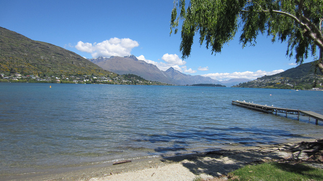 View from our Queenstown rental cottage