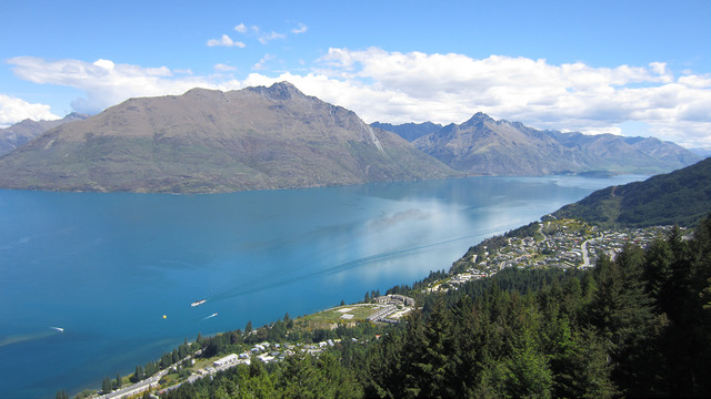 View of Lake Wakatipu from the gondola, Queenstown