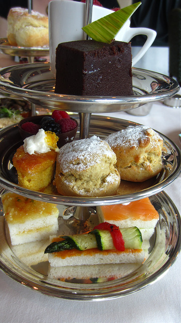 Afternoon tea at Chateau Lake Louise