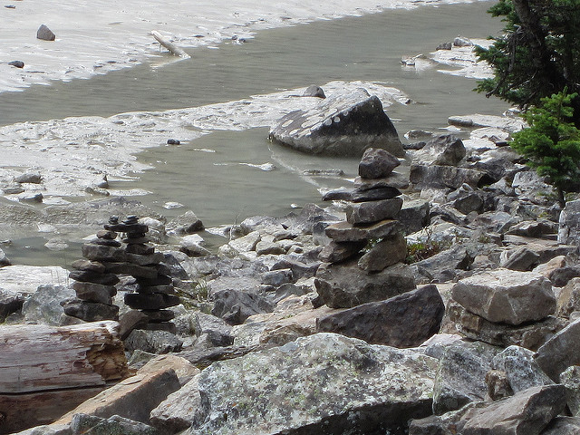 Inukshuk at Lake Louise