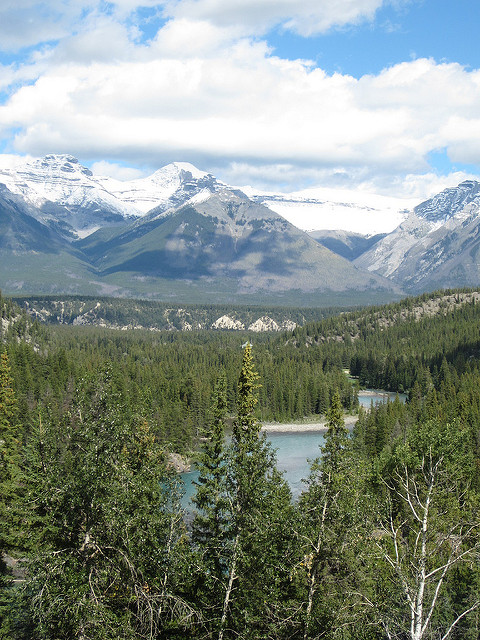 View from the Fairmont Banff Springs