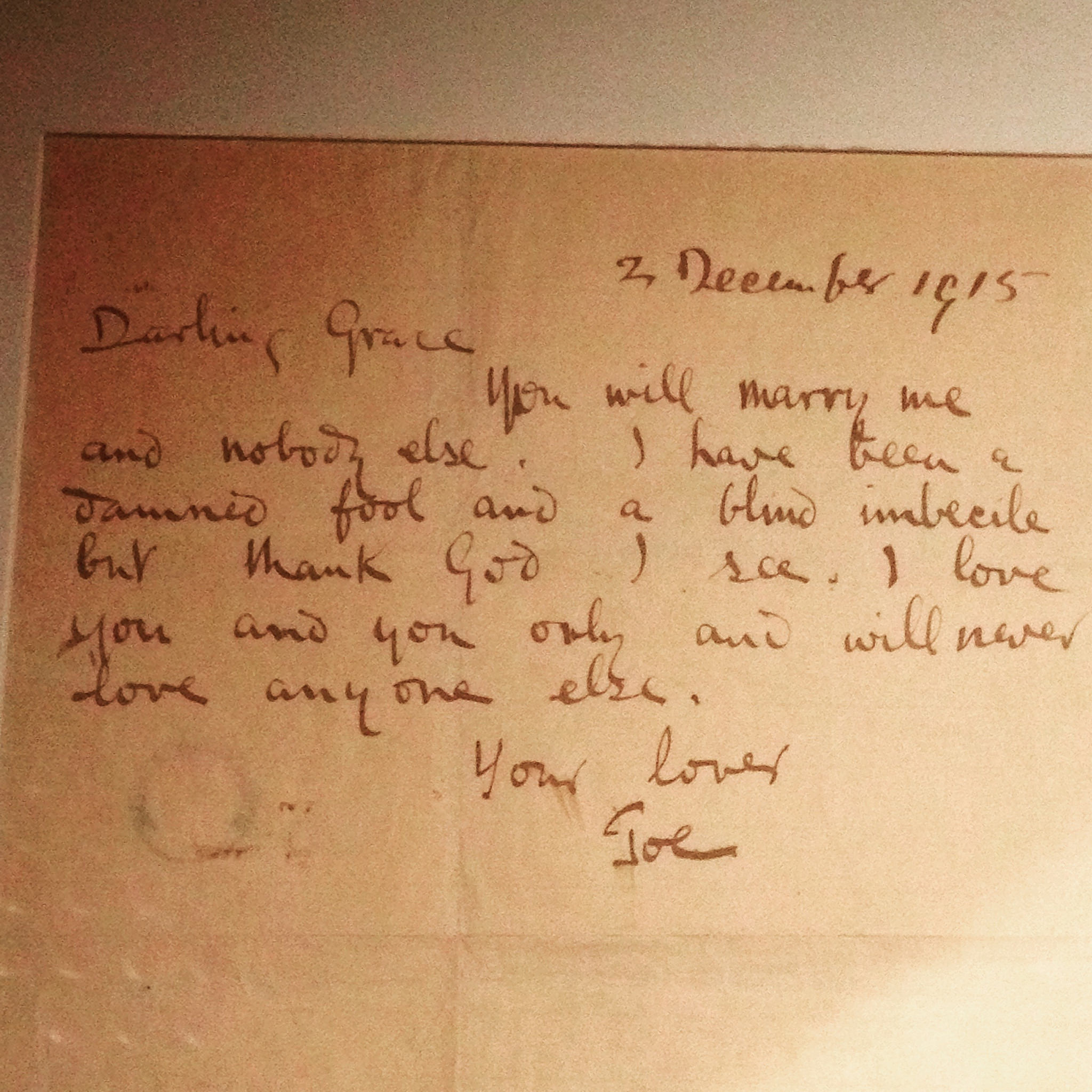 Proposal letter from Joseph Plunkett, imprisoned at Kilmainham Gaol, Dublin